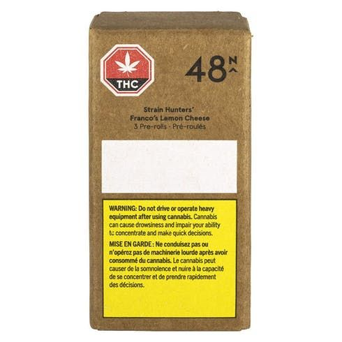 feature image 48North - Strain Hunters' Franco's Lemon Cheese Pre-Roll - 3x0.5g