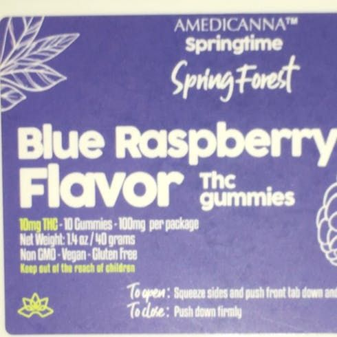 feature image 100mg- Amedicanna Gummies (Blue Rasberry)