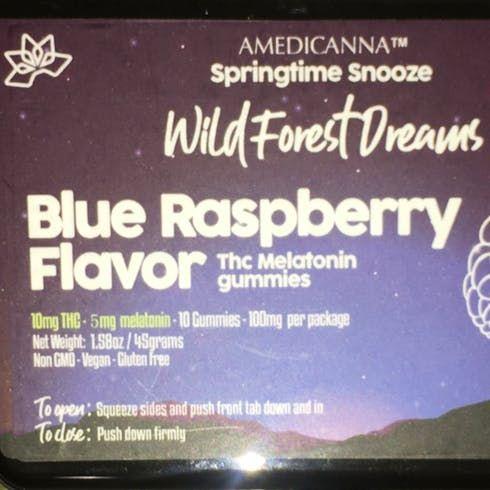 feature image 100mg- Amedicanna Melatonin (Blue Rasberry)