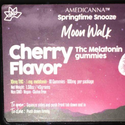 feature image 100mg- Amedicanna Melatonin Gummies (Cherry)