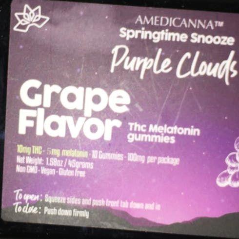 feature image 100mg- Amedicanna Melatonin Gummies (Grape)