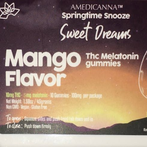 feature image 100mg- Amedicanna Melatonin Gummies (Mango)