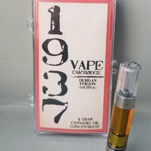 feature image 1937 Durban Poison 1g Cartridge