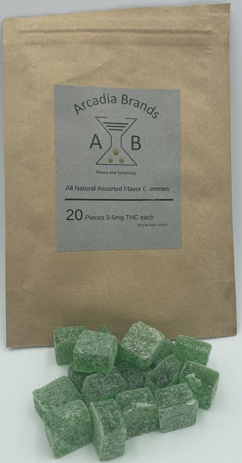 feature image 20pk gummies (3-5mg ea) made by Arcadia brands