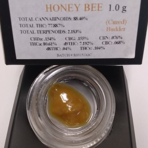 feature image 1 g. Honey Bee Cured Budder