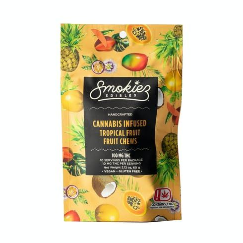 feature image Dover - Smokiez - Edibles - Tropical  Fruit Chews 100mg - 10pk of 10mg pieces