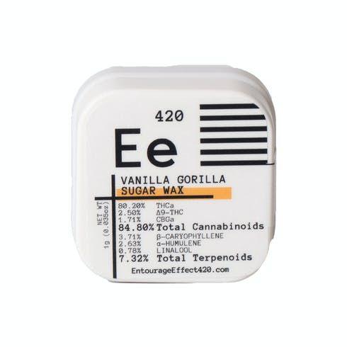 feature image Entourage Effect - Concentrate - THC Sugar Wax Vanilla Gorilla 1g