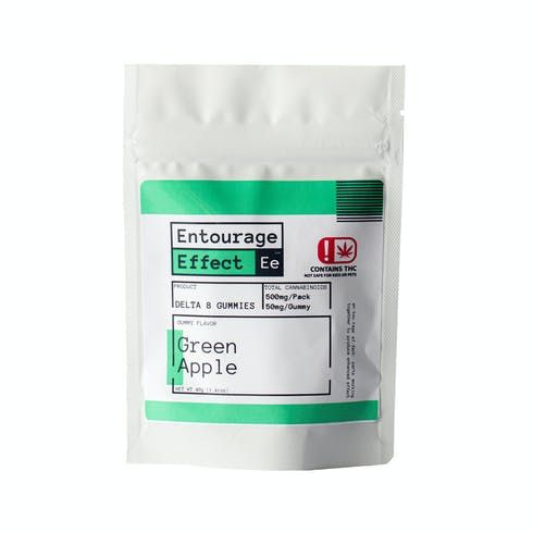 feature image Edible - Entourage Effect - Delta 8 Green Apple Gummies 10ct - 40g Net