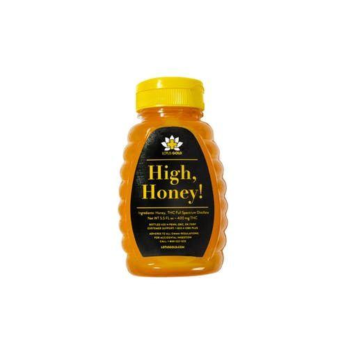 feature image Edibles - 400mg High, Honey (5.5oz bottle) - 162.4g Net