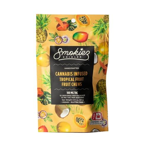 feature image Dover - Smokiez - Edibles - Tropical  Fruit Chews 100mg - 10pk of 10mg pieces