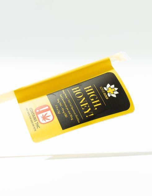feature image Edibles - Lotus Gold THC Edibles High, Honey Full Spectrum Honey Straws 13mg - 5g Net