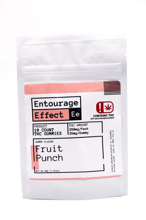 feature image Edible - Entourage Effect - 25mg THC Fruit Punch Gummy 10ct - 40g Net