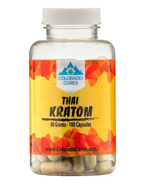feature image Colorado Cures - Capsule - Kratom Thai 100ct