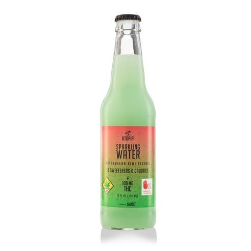feature image 100mg THC Watermelon Kiwi Sparkling Water by Utopia