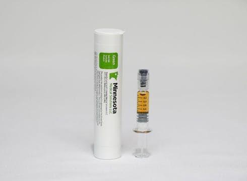 feature image Green Distillate Bulk Oil for Vaporization - 1 gram Syringe