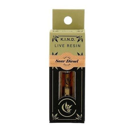 feature image  K.I.N.D. Live Resin Vape Cartridge- Sour Diesel