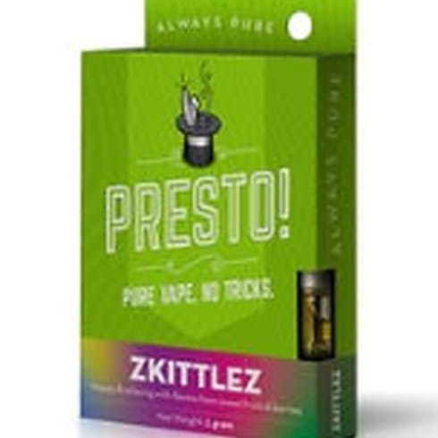 feature image  PRESTO! Zkittlez Cartridge