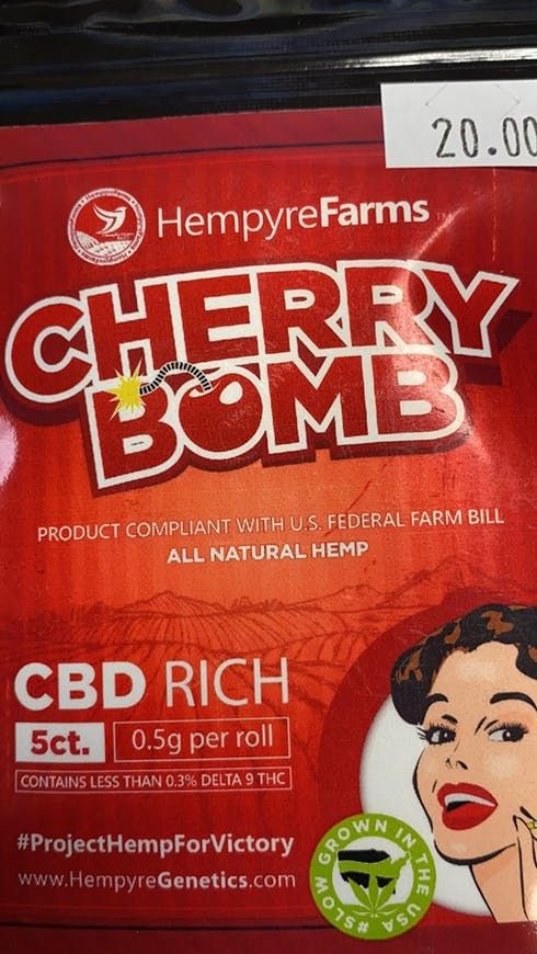 feature image A.W.S. HEMPYRE FARMS CHERRY BOMB CBD PRE-ROLLS