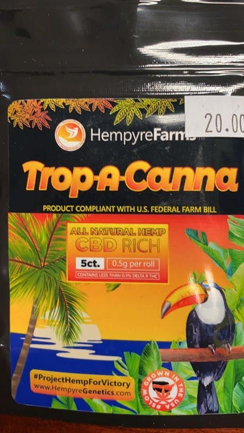 feature image A.W.S. HEMPYRE FARMS TROPICANA CBD PRE-ROLLS