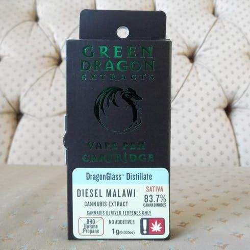 feature image   Cart 1g Diesel Malawi (Green Dragon Extracts)