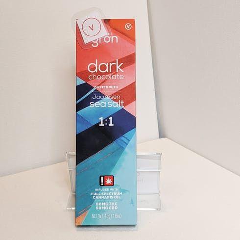 feature image 1:1 Dark Chocolate Bar - Grön