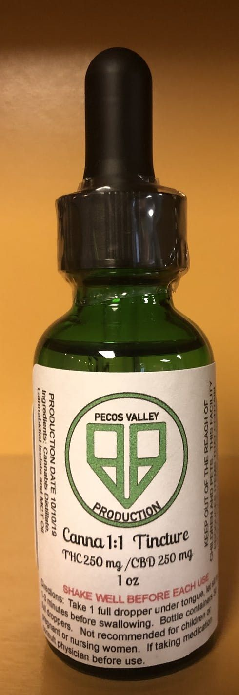 feature image 1:1 THC/CBD Tinctures 500mg