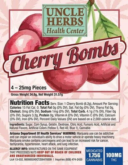 feature image 1:1 CHERRY BOMBS 100MG