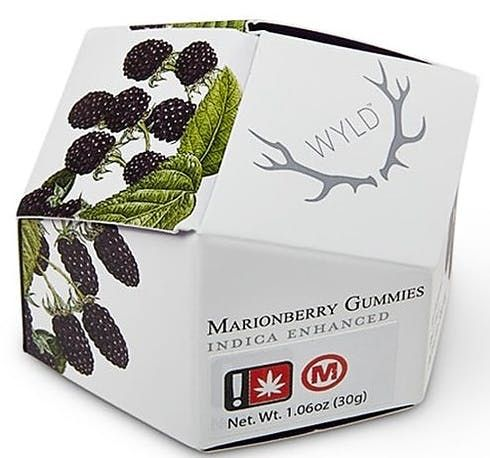 feature image (MED) Wyld: Marionberry Gummies (Indica Enhanced)