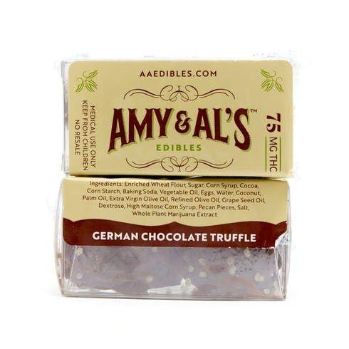 feature image  Amy & Al's Truffles (75mg) - German Chocolate