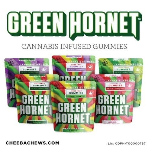 feature image 1:1 BLACK CHERRY GREEN HORNET GUMMIES
