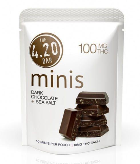 feature image 420 Minis Dark Chocolate Sea Salt 10pk - Evergreen Herbal