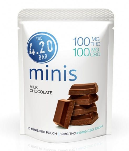 feature image 420 Minis Milk Chocolate 10pk - Evergreen Herbal