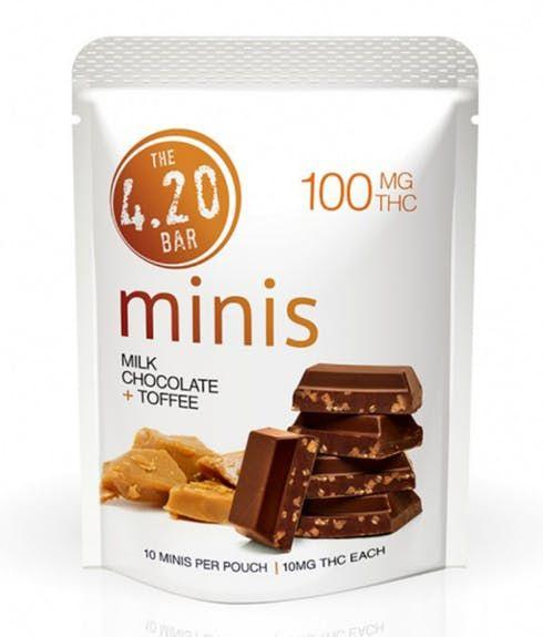 feature image 420 Minis Milk Chocolate Toffee 10pk - Evergreen Herbal