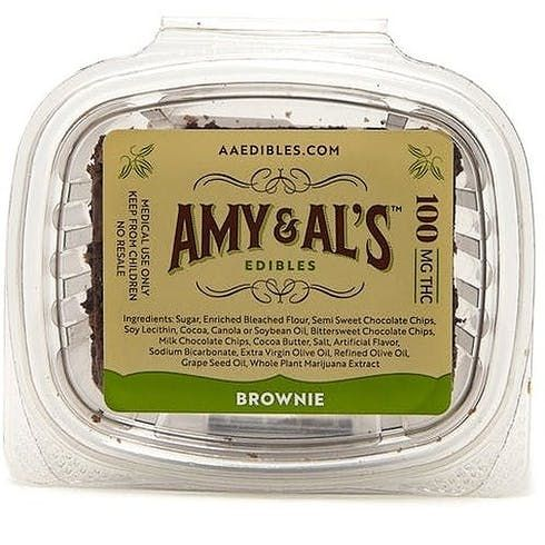 feature image Amy & Al's - Dark Chocolate Brownie - 100mg