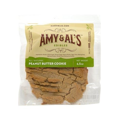 feature image Amy & Al's - Peanut Butter Cookie - 100mg