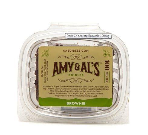 feature image Amy & Al's - Dark Chocolate Brownie 100mg