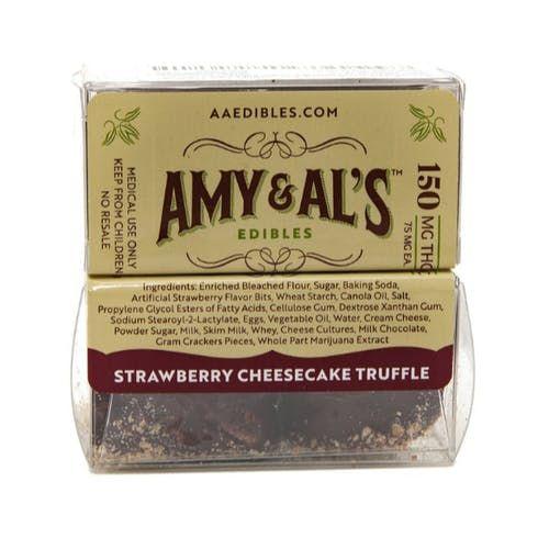 feature image Amy & Al's - Strawberry Cheesecake Truffle 150mg
