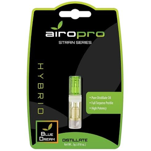 feature image Airo - Blue Dream Cartridge (0.5g): 83.86% THC