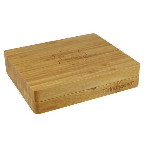 "feature image ***GrindHouse 6.25"" x 7.25"" Bamboo 2-piece Rolling & Storage Box"