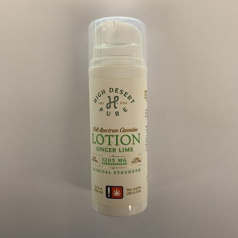 feature image 1000 mg Lotion - Ginger Lime (High Desert Pure)