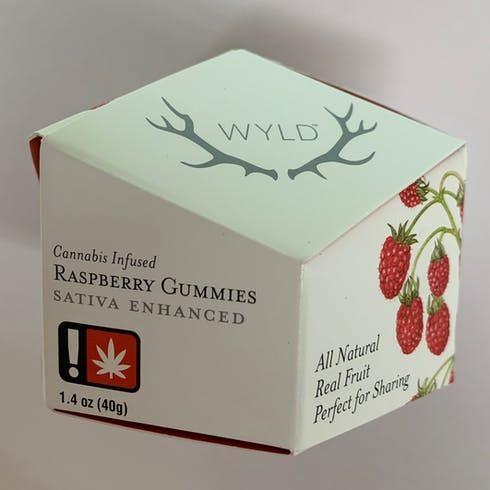 feature image  Raspberry (Sativa) - 50mg Gummies (WYLD)