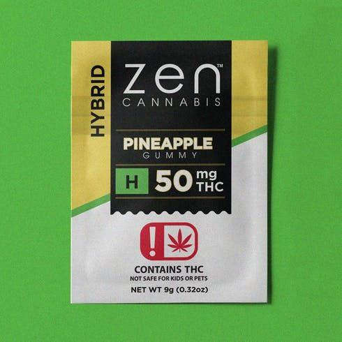 feature image 50MG Hybrid Pineapple Gummy - Fat Free - Gluten Free