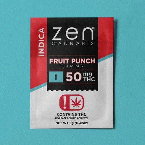 feature image 50MG Indica Fruit Punch Gummy - Fat Free - Gluten Free