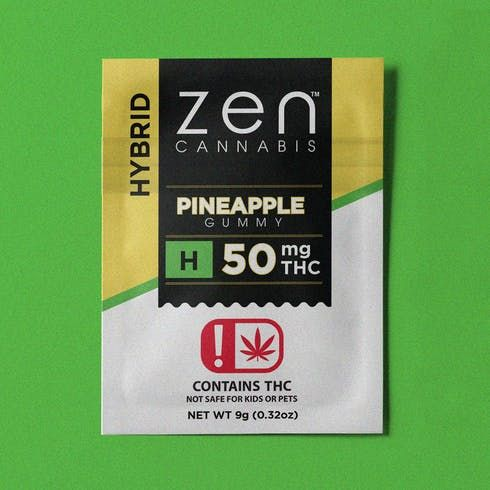 feature image 50MG Indica Watermelon Gummy - Fat Free - Gluten Free
