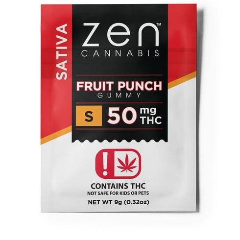 feature image 50MG Sativa Fruit Punch Gummy - Fat Free - Gluten Free
