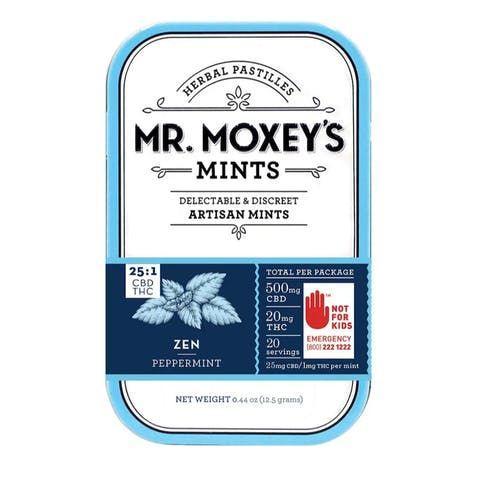 feature image  25:1 (CBD:THC) Zen Peppermints - Moxey