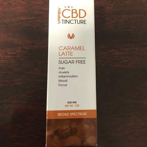 feature image 500Mg Caramel Latte Tincture (CBD)