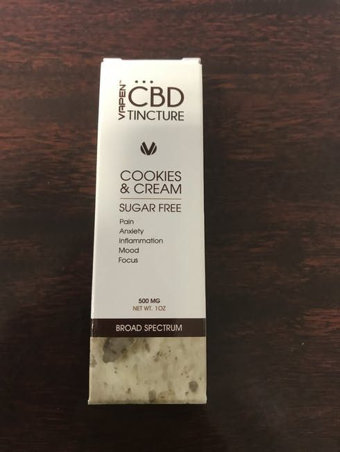 feature image 500Mg Cookies and Cream Tincture (CBD)
