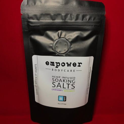 feature image   Empower: Soaking Salts - Hemp CBD Only Soaking Salts Lavender + Bergamot