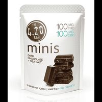 feature image 420 Bar: Chocolate: CBD 1:1 Dark SeaSalt Minis 200mg